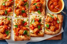 Meatball Pizza with Bell Pepper, Fresh Mozzarella, & Cherry Tomatoes