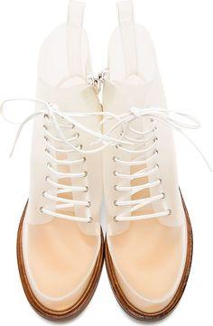 MM6 Maison Martin MARGIELA | White Transparent Boots
