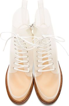 MM6 Maison Martin MARGIELA | White Transparent Boots