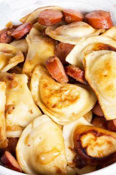 Pierogi and Kielbasa Sausage Skillet Recipe