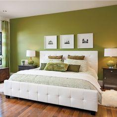 chambre en vert et blanc chambre inspirations dcoration et rnovation pratico pratique - Chambre Verte Zen