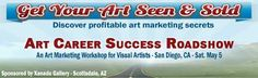 I will be in San Diego, CA on Sat. May 5 with an art marketing workshop. It is designed to help visual artists find new ways to get their art seen and sold. http://x.co/workshop