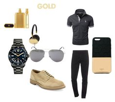 """Gold"" by monkytails on Polyvore featuring Kenzo, Salvatore Ferragamo, Brunello Cucinelli, Yves Saint Laurent, Frends, Ports 1961, Tom Ford, men's fashion en menswear"