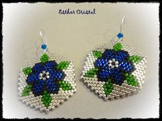 Beaded Jewelry Patterns, Beading Patterns, Flower Patterns, Peyote Beading, Seed Bead Jewelry, Seed Bead Earrings, Beading Projects, Beading Tutorials, Seed Beads