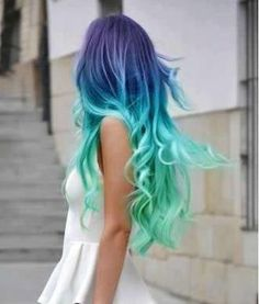 girl fashion style pastel hair colored hair dyed hair blue hair green hair colorfulhai-r Summer Hairstyles, Cool Hairstyles, Hairstyles Haircuts, Mermaid Hairstyles, Rainbow Hairstyles, Long Haircuts, Hairstyles Pictures, Fringe Hairstyles, Latest Hairstyles