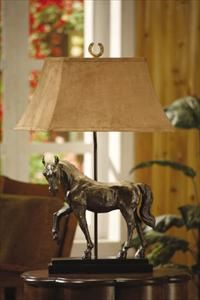 Horse lamp-good way to make a statue useful