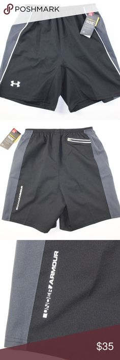 New Under Armour HeatGear Fitted Running Shorts Under Armour Cool Switch Heat Gear Fitted Running Shorts  Running Shorts  New  Black  The size is Small  Measurements are:  7.5 inch inseam 13 inch waist lying flat 17 inch overall length  Polyester  Check out my other items for sale in my store!  G80 Under Armour Shorts Athletic