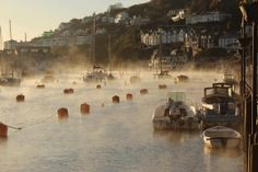 Morning mist on the river Looe in south east Cornwall, taken by Kevin Armes. Misty Day, Cornwall, Niagara Falls, Mists, The Good Place, River, Places, Pictures, Poldark