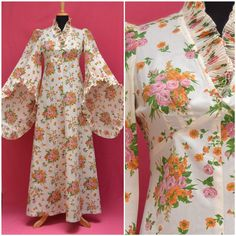 Vintage dress 1970s does medieval full by VintageGreenClothing