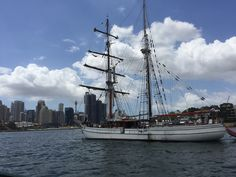 The tall ship Soren Larsen on Sydney Harbour