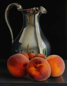 Still life with Silver Jug and Peaches