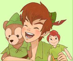peter pan y Walt Disney, Disney Films, Disney And Dreamworks, Disney Magic, Disney Pixar, Disney Characters, Peter Pan And Tinkerbell, Peter Pan Disney, Disney Fan Art