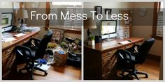 Mess to Less-My Home Office....I am crazy but I really like organizing things!