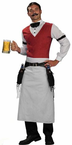 Adult Bartender Mens Western Costume Saloon Costumes - Mr. Costumes