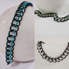 More Half Persian 3in1 listed in our Etsy store - take a look!! #jewelrydesigner #chainmaillejewelry #workinghard