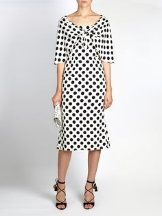 http://www.matchesfashion.com/intl/products/Dolce-&-Gabbana-Tie-front-polka-dot-print-charmeuse-dress-1077491