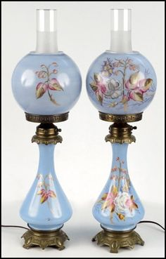 Oil Lamps Converted To Electric Lamps