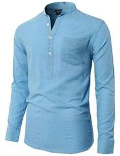 H2H Mens Casual Slim Fit Basic Designed Roll-up Sleeve Popover Henley Shirts - http://www.darrenblogs.com/2017/03/h2h-mens-casual-slim-fit-basic-designed-roll-up-sleeve-popover-henley-shirts/