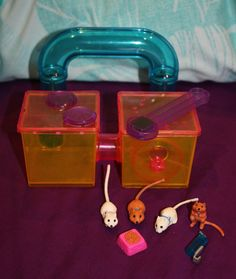 Littlest Pet Shop - Jogging Gerbils with Gerbitrail, vintage toy playset by Kenner (1992)