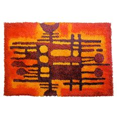 Danish Modern Van Guard Ege Rya Rug | From a unique collection of antique and modern western european rugs at https://www.1stdibs.com/furniture/rugs-carpets/western-european-rugs/