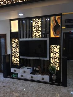 LCD Unit Design Best LCD Unit Cutwork Manoj Prajapati Lcd Unit Design, Lcd Panel Design, Wall Unit Designs, Living Room Partition, Room Partition Designs, Tv Cabinet Design, Tv Wall Design, Lcd Units, Flat Interior Design