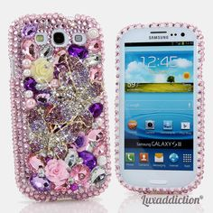 """Style 753  This Bling case can be handcrafted for Samsung Galaxy S3, S4, Note 2. The current price is $79.95 (Enter discount code: """"facebook102"""" for an additional 10% off during checkout)"""
