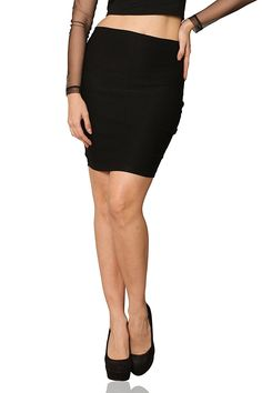 Miss Chase Women's Black Mini Bodycon Zippered Skirt *** You can get more details by clicking on the image.