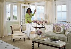 From her bedroom, Oprah can step directly onto the terrace.