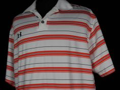 Under Armour Striped Polo Shirt Mens Large L White Red Black Short Sleeve  #BlackFriday #eBay #TreatYourself http://r.ebay.com/zxdcG5