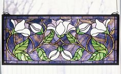 Meyda Tiffany 30705 Stained Glass Tiffany Window from the Floral Elegance Collection