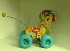 Vintage 1960's Fisher Price Patch Pony Pull toy
