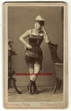 SIDESHOW PITCH CARDS | Reserved for V.-Nora Hildebrandt tattoo lady circus Eisenmann.