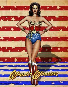 Lynda Carter Wonder Woman by hamletroman on DeviantArt Wonder Woman Kunst, Wonder Woman Art, Wonder Woman Comic, Wonder Women, Linda Carter, Batgirl, Supergirl, Marvel Dc, Wonder Woman Pictures