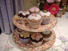 fabric cupcakes by MarmaladeRose, via Flickr