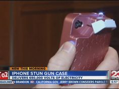 iPhone 4 cell phone case comes equipped with stun gun attachment