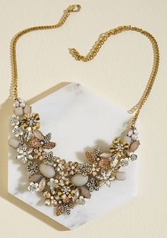 The Flowers that Be Statement Necklace
