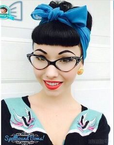 Bettie bangs and cute frames