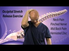 Occipital Stretch Release Exercise for Instant Neck Pain Relief & Pinched Nerve - Dr Mandell Yoga For Headaches, Essential Oils For Headaches, Tension Headache Relief, Neck Pain Relief, Rheumatoid Arthritis Symptoms, Chronic Migraines, Fibromyalgia, Pinched Nerve In Shoulder, Health