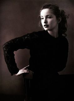 Julie Delpy photographed by Annie Leibovitz, 1992