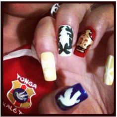 #tonga #nails #nailart #shield #crest