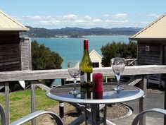 Panoramic views situated in private enclave close to Russell township. Villa 2 is a stand a. House With Balcony, Living On A Boat, New Zealand Houses, Family Weekend, Iron Board, Holiday Accommodation, Special Deals, Dining Area, Beautiful Homes