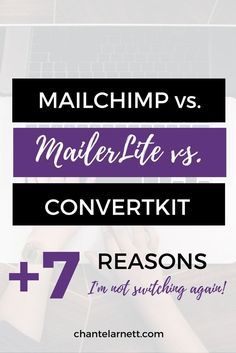 I tried MailChimp before I switched to MailerLite. And I was VERY tempted by ConvertKit. Here's my comparison of all three. And 7 reasons I'm NOT switching again! MailerLite vs. MailChimp vs. ConvertKit :)