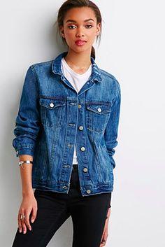 A denim jacket.   15 Items Every Twentysomething Needs In Their Wardrobe