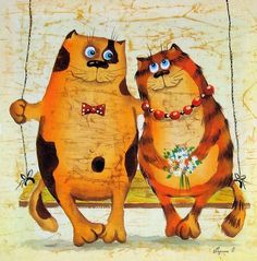 Silk cats artist Elena Razina
