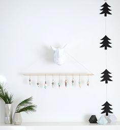 Décoration de Noël en bois de style minimaliste
