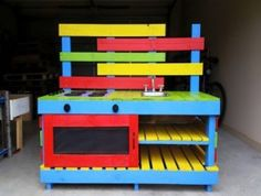 pallets mud pie kitchen for the kids