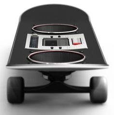 Skateboard Boombox by Loren Kulesus, via Behance