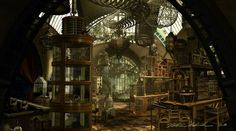 Uncle Monty's Reptile Room, Lemony Snicket's A Series of Unfortunate Events movie concept art by Peter Chan, 2003 Reptile House, Reptile Room, Reptiles, Terrarium, Lemony Snicket, Boutique Deco, Portfolio Site, A Series Of Unfortunate Events, Architecture