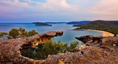 From Mt Ettalong, looking over Palm Beach, NSW (photo by Marilyn McKay Photography)