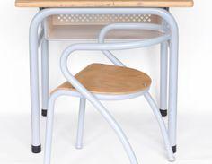 bureau vintage enfant - chaise Hitier - Mobilor - Jacques Hitier - vintage for kids - meubles vintage